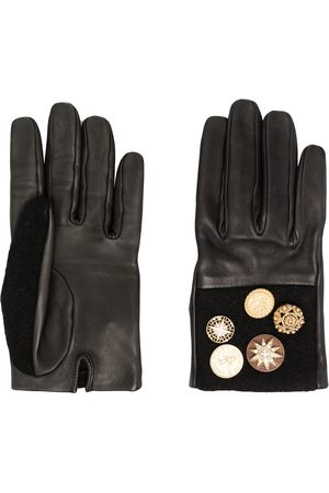 CHANEL Star buttons leather gloves
