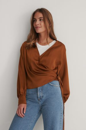 Trendyol Double Breasted Blouse - Brown