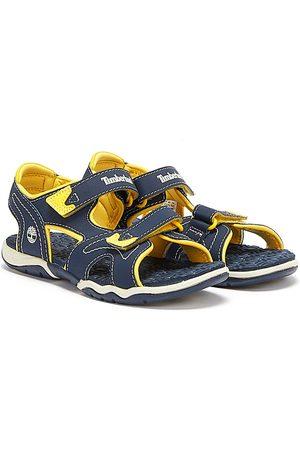 Timberland Sandals - Youths Navy & Yellow Adventure Seeker Sandals