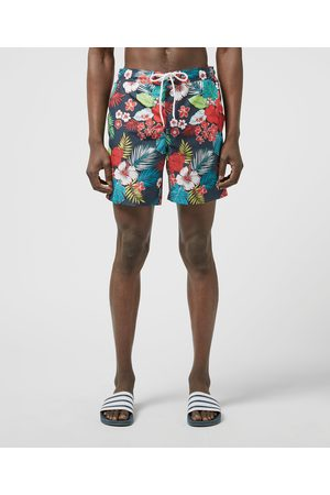 Original Penguin Men Swim Shorts - Men's Floral Swimshorts