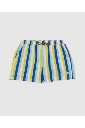 Guess Men's Woven Stripe Swim Shorts