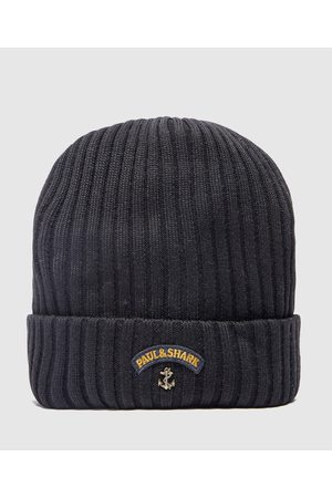 Paul And Shark Men's Ribbed Knitted Logo Beanie