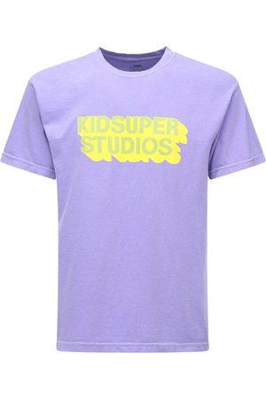 KIDSUPER STUDIOS Logo Printed Cotton Jersey T-shirt