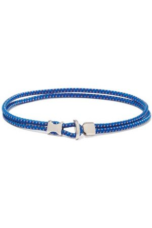 MIANSAI Orsan Rope-cord And Sterling-silver Bracelet - Mens