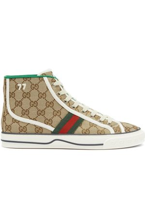 Gucci 1977 Gg-supreme Canvas High-top Trainers - Womens