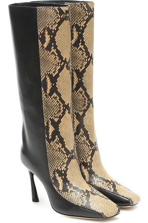 Jimmy Choo Mabyn 85 leather knee-high boots
