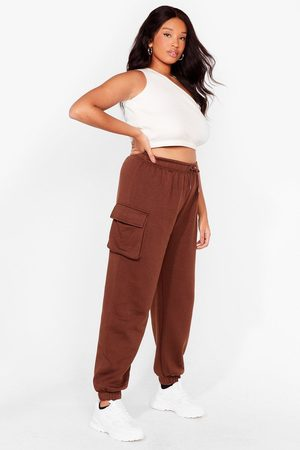 NASTY GAL Women Joggers - Womens As Easy As That Plus High-Waisted Joggers - - 16