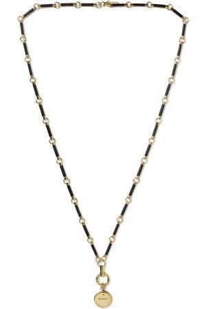 Foundrae Dream 18-Karat , Diamond and Onyx Necklace