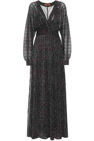 Missoni Stretch-silk lamé maxi dress