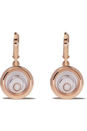 Chopard 18kt rose and white gold diamond Happy Spirit earrings