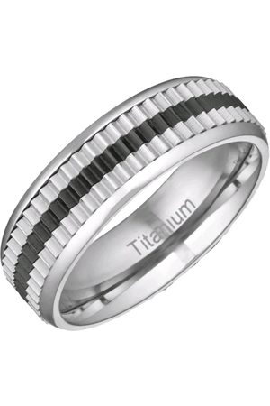 Vero Moda Very Titanium Black Stripe 6Mm Polished And Matt Band