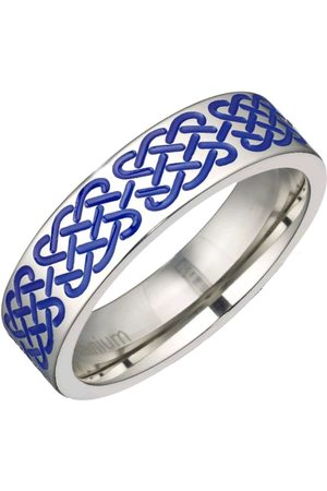 Vero Moda Very Men Rings - Titanium Blue Stripe 6Mm Polished Band