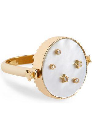 L'Atelier Nawbar Women Rings - Yellow Gold and Diamond Cosmic Love Libra Ring