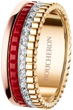 Boucheron Mixed Golds and Diamond Quatre Radiant Ring