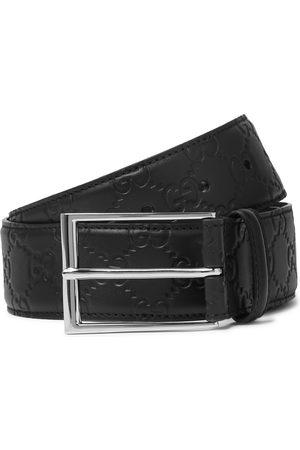Gucci Men Belts - 4cm Logo-Debossed Leather Belt