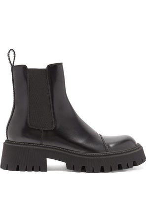 Balenciaga Men Chelsea Boots - Tractor Trek-sole Leather Chelsea Boots - Mens