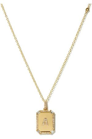 Shay Women Necklaces - Initial Diamond & 18kt Necklace (a-m) - Womens