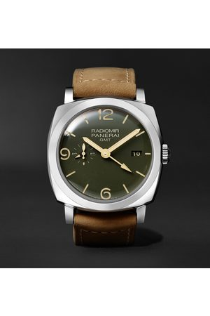 PANERAI Men Watches - Radiomir GMT Automatic 45mm Stainless Steel and Leather Watch, Ref. No. PAM00998