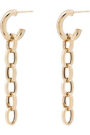 LOREN STEWART 10kt yellow drop chain-link earrings