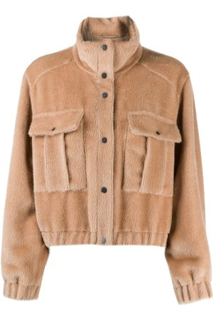 Brunello Cucinelli Fleece jacket - Neutrals