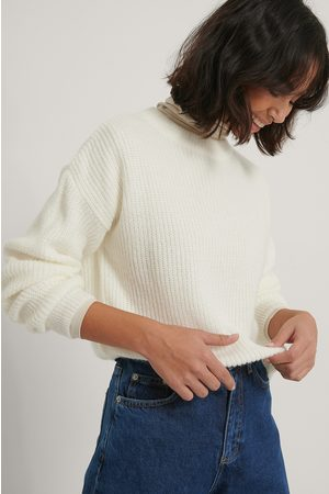 NA-KD Loose Knitted Sweater - White