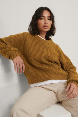 NA-KD Loose Knitted Sweater - Brown
