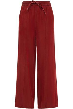 American Vintage Woman Soon Twill Wide-leg Pants Merlot Size L