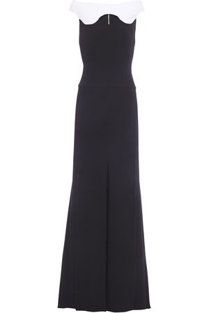 Roland Mouret Woman Cutout Pleated Wool-crepe Gown Size 10