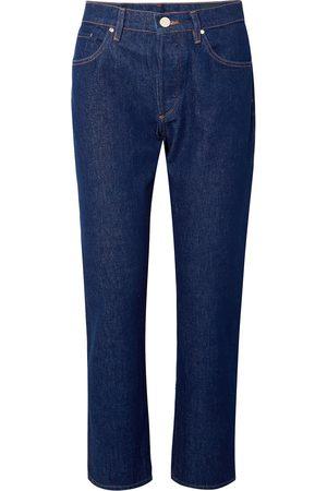 Goldsign Woman The Benefit High-rise Straight-leg Jeans Dark Denim Size 26