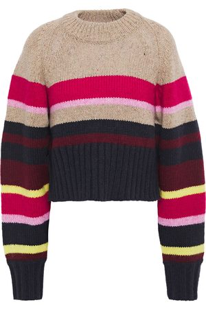 Current/Elliott Woman The Moonshine Striped Knitted Sweater Multicolor Size 0
