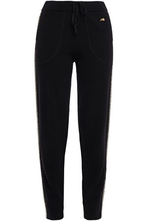 BELLA FREUD Woman Tinsel-trimmed Wool-blend Track Pants Size L