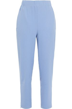 Ganni Woman Stretch-crepe Tapered Pants Sky Size 32