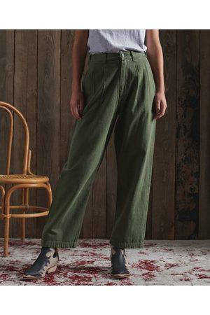 Superdry Women Wide Leg Trousers - DRY Dry Pleated Wide Leg Trouser