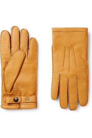 Dents Blenheim Cashmere-Lined Full-Grain Leather Gloves