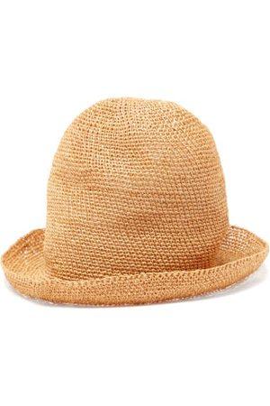 REINHARD PLANK Beanie Woven Hat - Womens - Camel