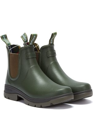 Barbour Fury Chelsea Mens Olive Green Wellies
