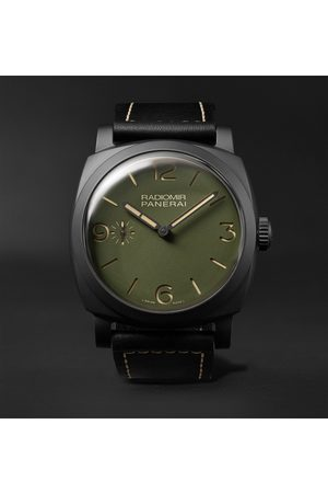 PANERAI Men Watches - Radiomir Hand-Wound 48mm Ceramic and Leather Watch, Ref. No. PAM00997
