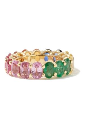 Shay Ruby, Sapphire, Emerald & 18kt Gold Ring - Womens - Multi
