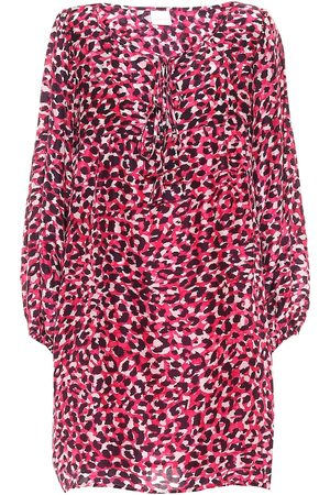 ANNA KOSTUROVA Exclusive to Mytheresa – Leopard-print silk minidress