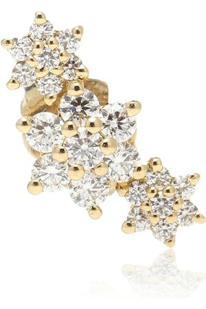 Maria Tash Three Flower Garland 14kt single earring with diamonds