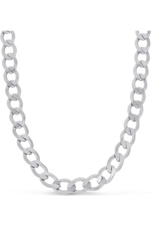 SuperJeweler Men's Stainless Steel Curb Chain Necklace, 19 Inches