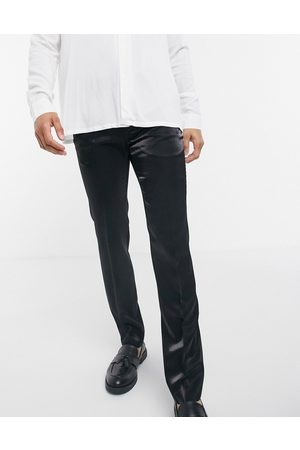 Twisted Tailor Suit trousers in high shine