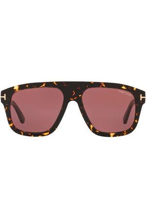 TOM FORD Eyewear Men Sunglasses - Tortoiseshell-effect oversize-frame sunglasses