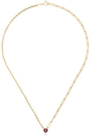 YVONNE LÉON Women Necklaces - 18kt yellow tourmaline-heart necklace