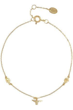 Alex Monroe Women Bracelets - 18kt yellow The Beekeeper floral chain bracelet