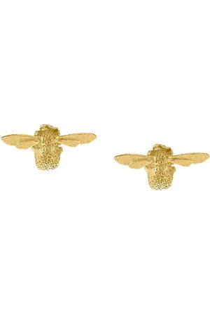 Alex Monroe 18kt yellow Teeny Weeny Bee stud earrings
