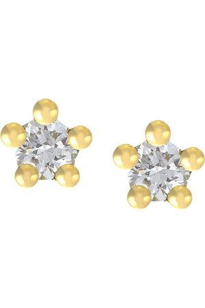 Alex Monroe 18kt yellow Beekeeper diamond studs