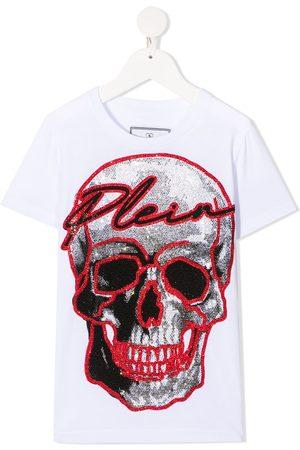 Philipp Plein Rhinestone-logo cotton t-shirt