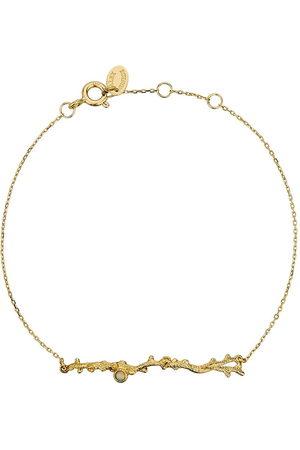Alex Monroe 18kt yellow Coral Opal Branch bracelet