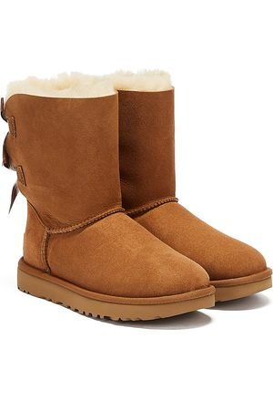 UGG Women Boots - Womens Chestnut Bailey Bow II Sheepskin Boots